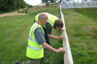 BTCV Diploma assessment students putting the finishing touches to the fence