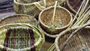 Baskets made using locally grown Trent Vale willow.