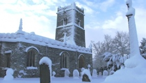 Marton church in the snow. Photograph: Brian Hedley