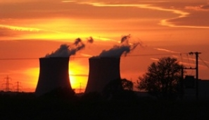 West Burton Power Station at dusk. Photograph: Brian Hedley