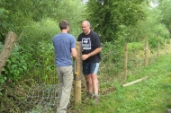 Trent Vale grants paid for fencing to allow sheep grazing at Farndon Willow Holt