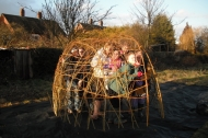 Living willow sculpture at Hawton Allotments in Newark