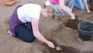 Childrens archaeology dig