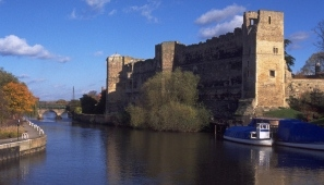 Remains of the imposing Newark Castle. Photograph: British Waterways.