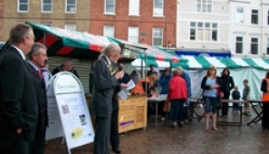Reopening of the historic Gainborough Market Square