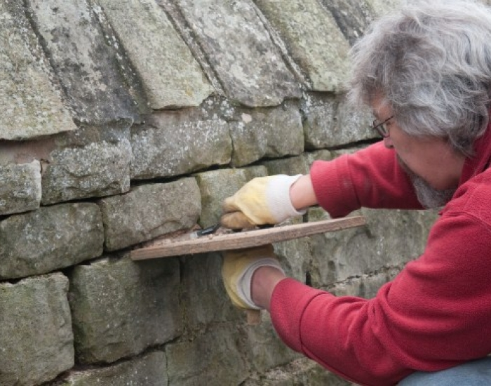 Lime mortar pointing at West Stockwith