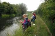 Water vole surveying, Chesterfield Canal June 2011
