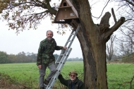 Wildlife Conservation Partnership put up 13 barn owl boxes throughout Trent Vale