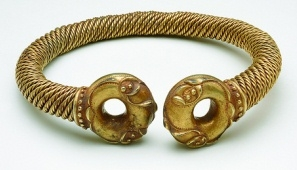 The Newark Torc is an Iron Age gold alloy object that was possibly as an offering to the Gods. Now at the British Museum.