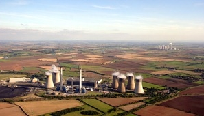 Power stations and extensive farmland characterise the Trent Vale floodplain